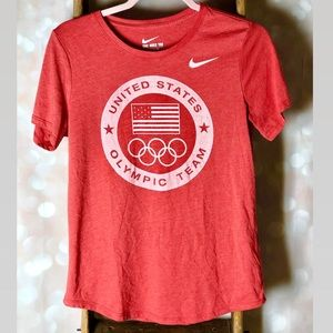 Nike Dri Fit Red United States Olympic Team Shirt